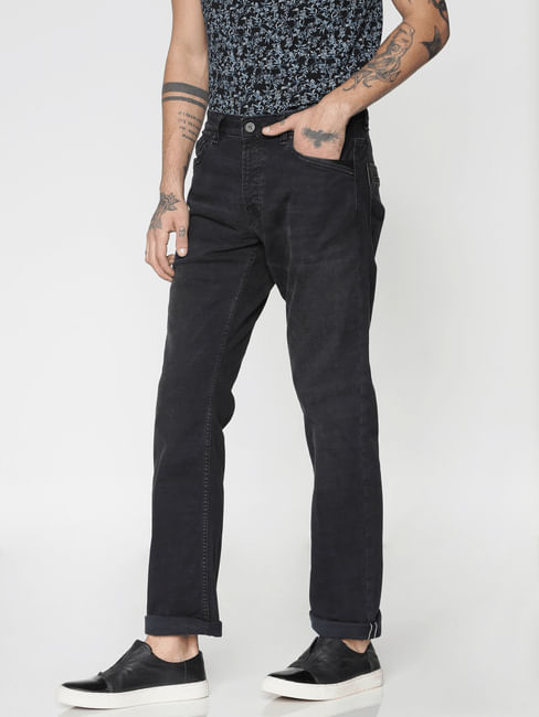 Black Washed Ben Skinny Fit Jeans