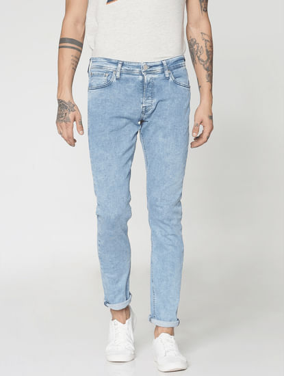 Blue Faded Tom Skinny Fit Jeans