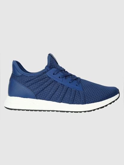 Blue Mesh Detail Sneakers