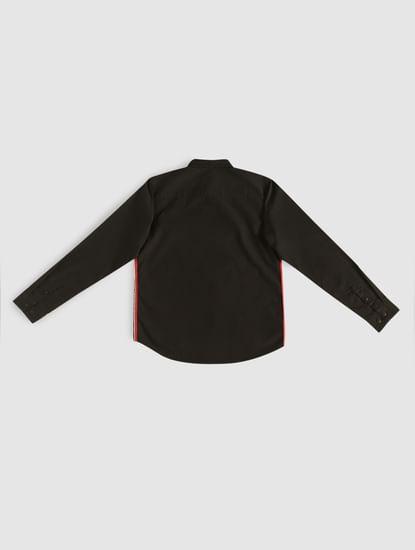 Boys Black Tape Detail Shirt