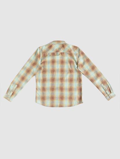 Boys Brown Check Shirt