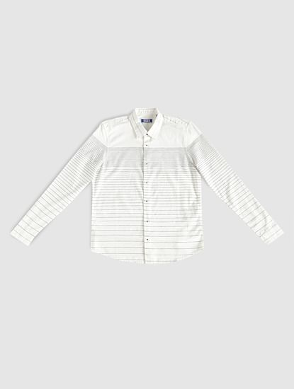 Junior White Striped Shirt