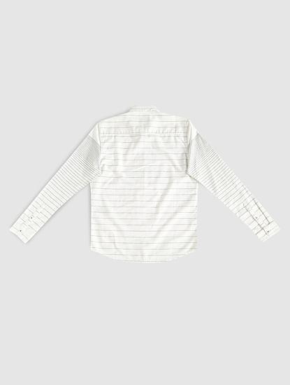 Boys White Striped Shirt