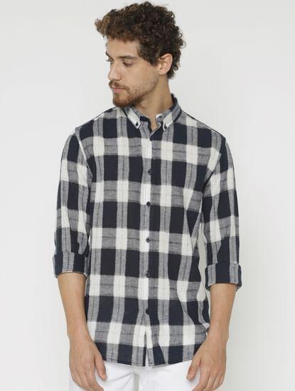 Blue Checks Full Sleeves Shirt