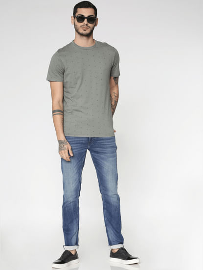 Blue Washed Ben Skinny Fit Jeans