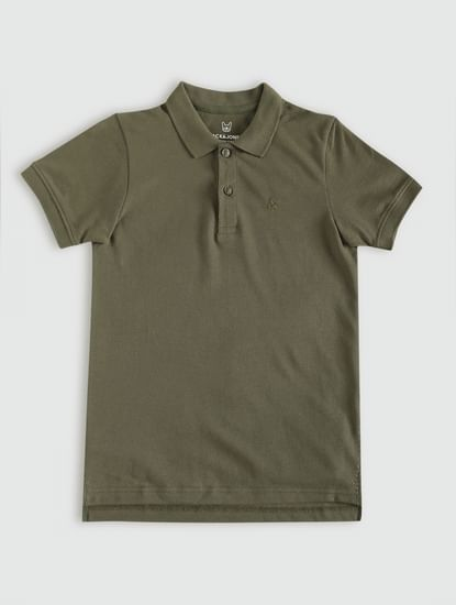 Junior Green Polo Neck T-Shirt