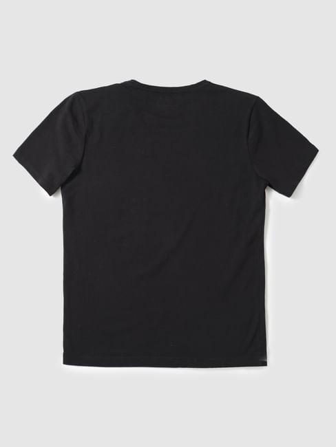 Junior Black Slim Fit V Neck T-Shirt