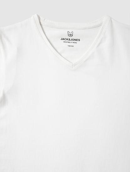 Boys Black Crew Neck T-Shirt
