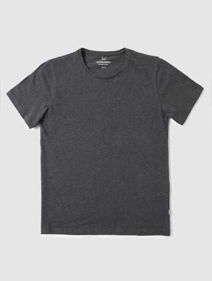 Junior Grey Slim Fit Crew Neck T-Shirt