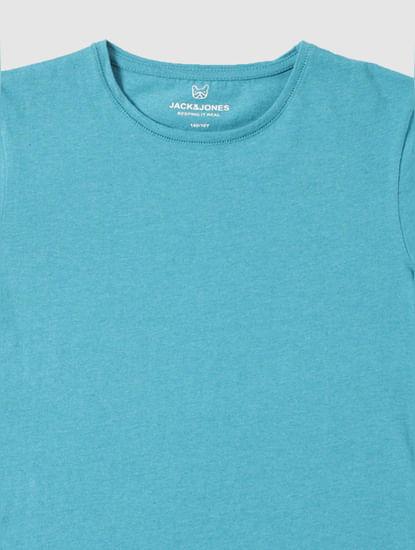 Boys Blue Slim Fit Crew Neck T-Shirt