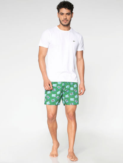 Green All Over Television Graphic Print Boxers