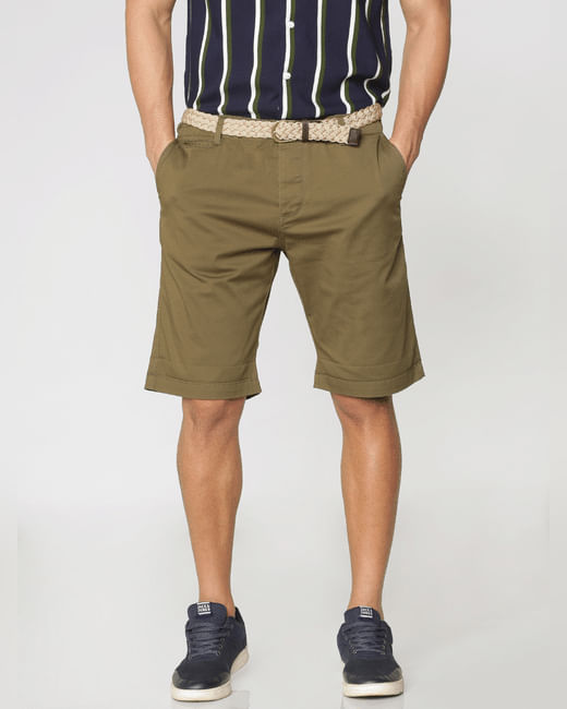 Green Chino Shorts