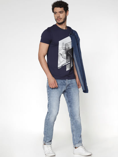 Light Blue Slim Fit Glenn Slim Fit Jeans