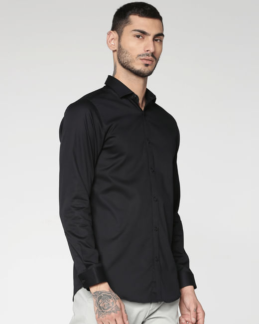 Black Full Sleeves Shirt