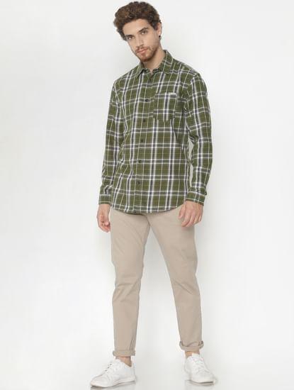 Green Check Full Sleeves Shirt