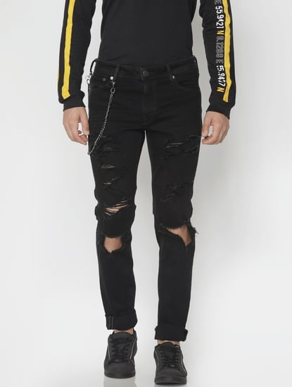 Black Ripped Ben Skinny Fit Jeans