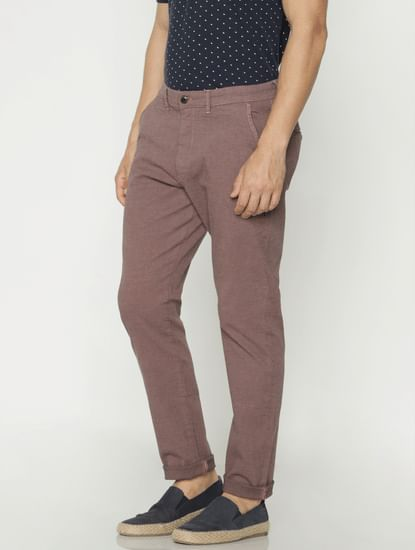 Brown Slim Fit Pants