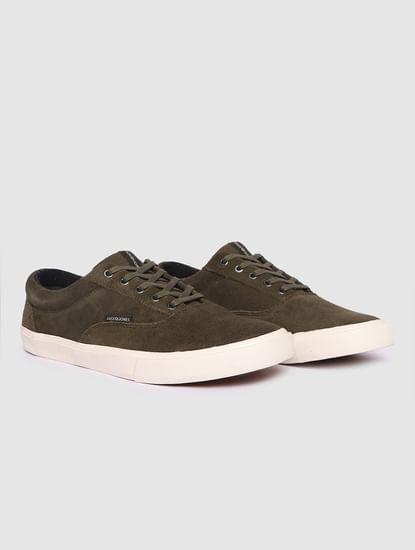 Dark Green Suede Sneakers