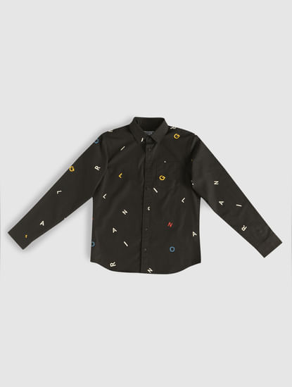 Junior All Over Alphabet Print Shirt
