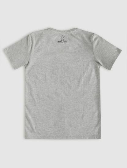 Boys Grey Graphic Print Crew Neck T-Shirt