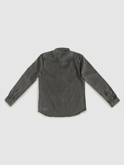 Boys Black Faded Full Sleeves Shirt