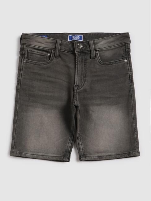 Junior Grey Denim Shorts
