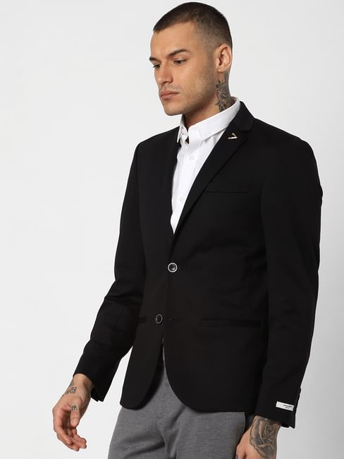 Black Double Button Blazer