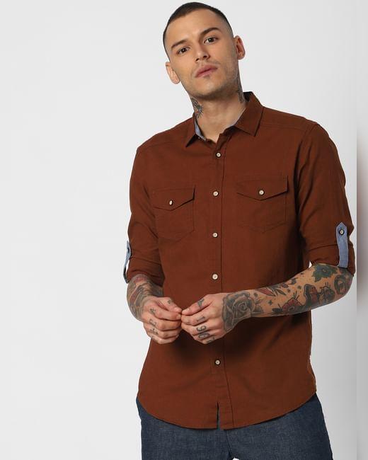 Dark Brown Full Sleeves Shirt