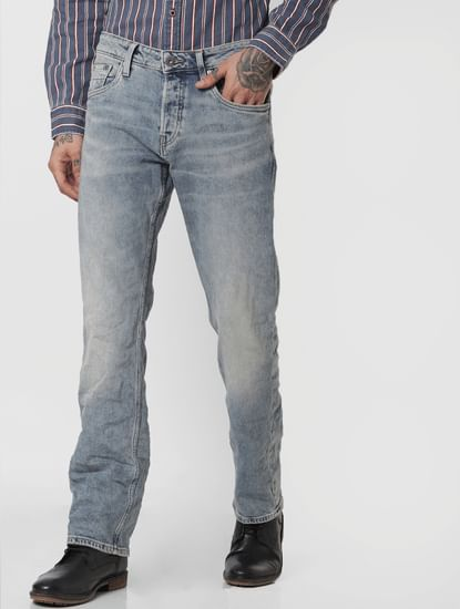 Light Blue Low Rise Clark Regular Fit Jeans