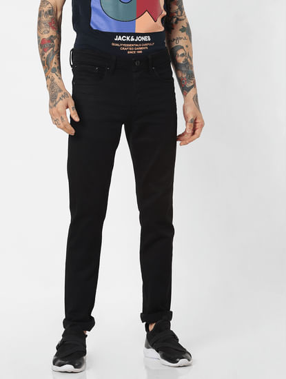 Black Low Rise 'Stay Black' Glenn Slim Jeans