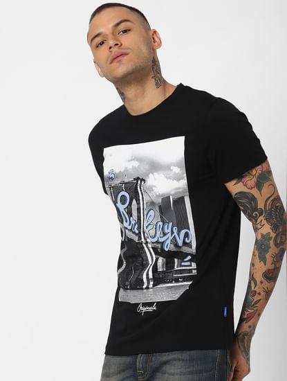 Black Brooklyn Bridge Crew Neck T-Shirt