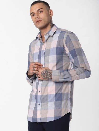 Light Grey Check Full Sleeves Shirt