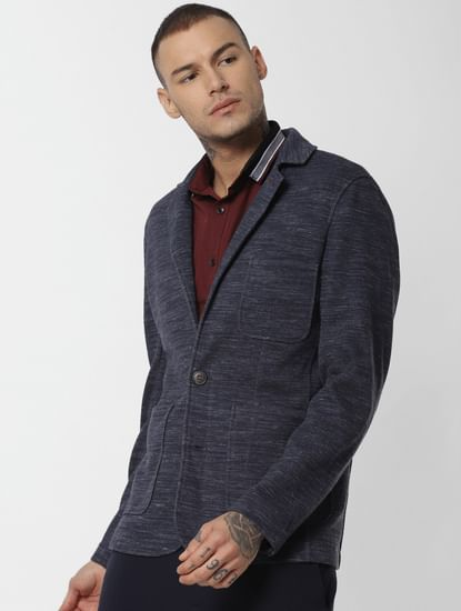 Navy Blue Double Button Blazer