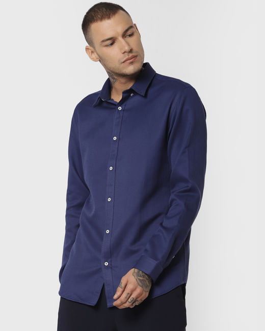 Blue Formal Full Sleeves Shirt