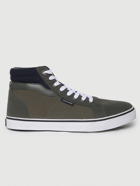 Green High-Top Sneakers