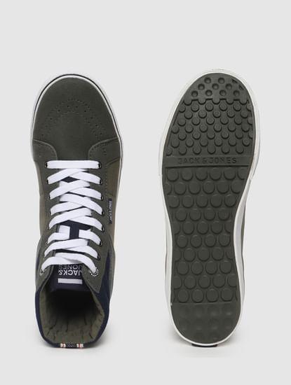 Green High-Top Sneakers