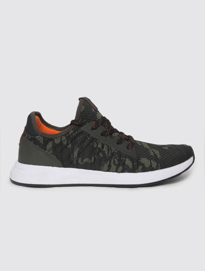 Green Camo Print Trainers