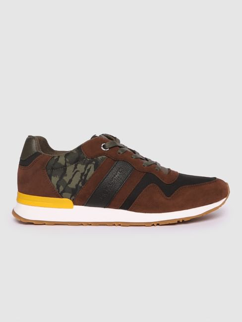 Brown Camo Detail Sneakers