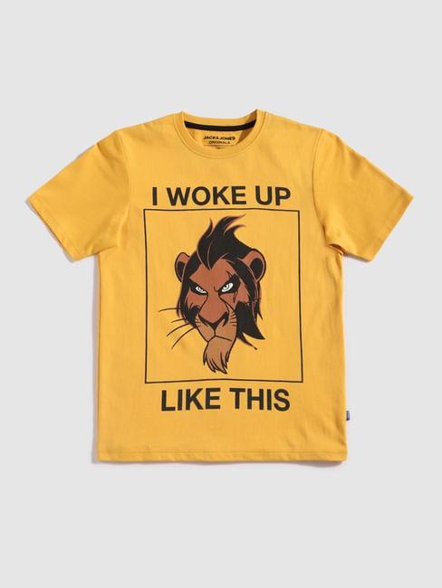 Boys X Lion King Yellow Scar Crew Neck T-Shirt