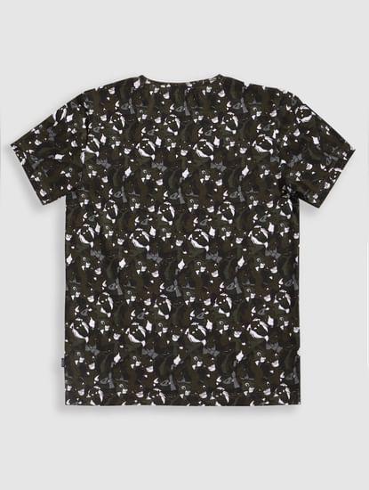 Boys X Lion King Green Hakuna Matata Crew Neck T-Shirt
