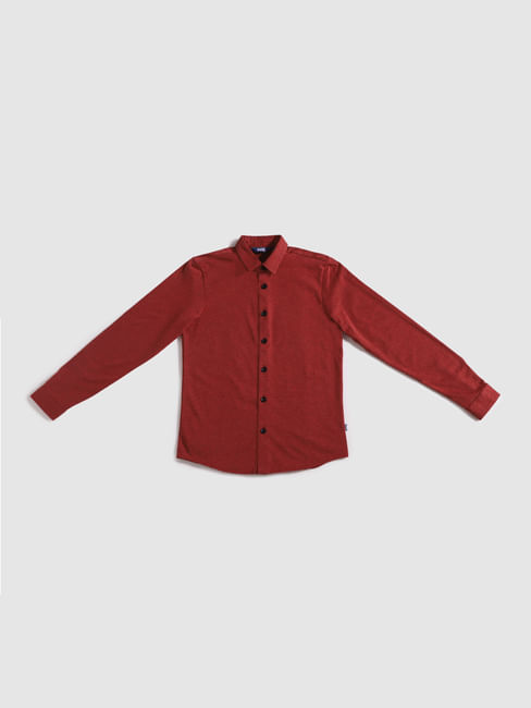 Junior Red Full Sleeves Shirt