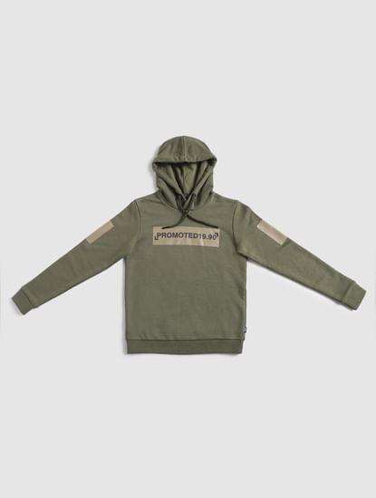 Junior Green Hooded Sweatshirt
