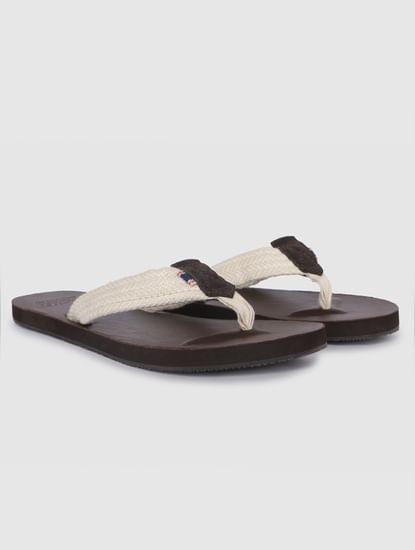 Dark Brown Leather Flip Flops