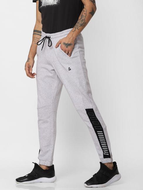 Grey Logo Print Sweatpants