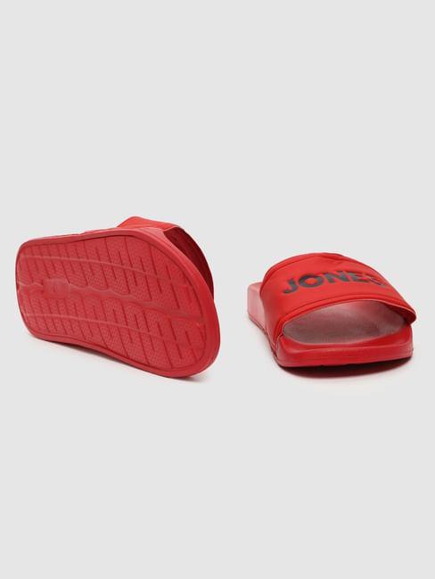 Red Logo Print Sliders
