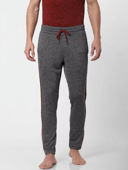 Grey Tape Detail Trackpants
