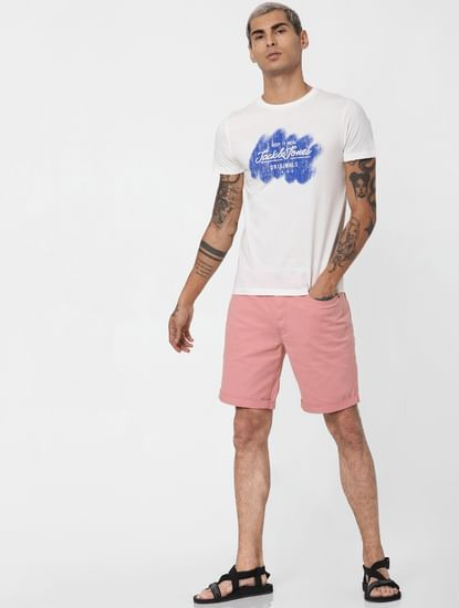 Pink Low Rise Shorts