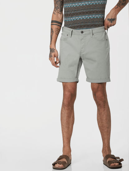 Grey Low Rise Shorts