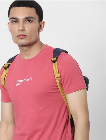 Red Slogan Print Crew Neck T-shirt