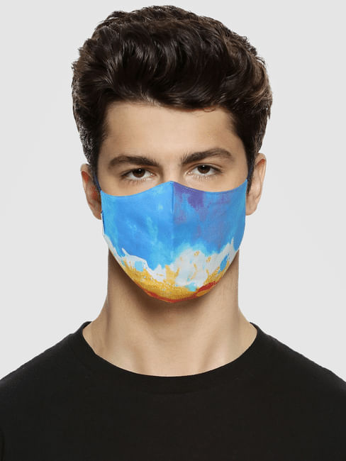Pack of 3 Blue All Over Print B95 3 PLY Mask